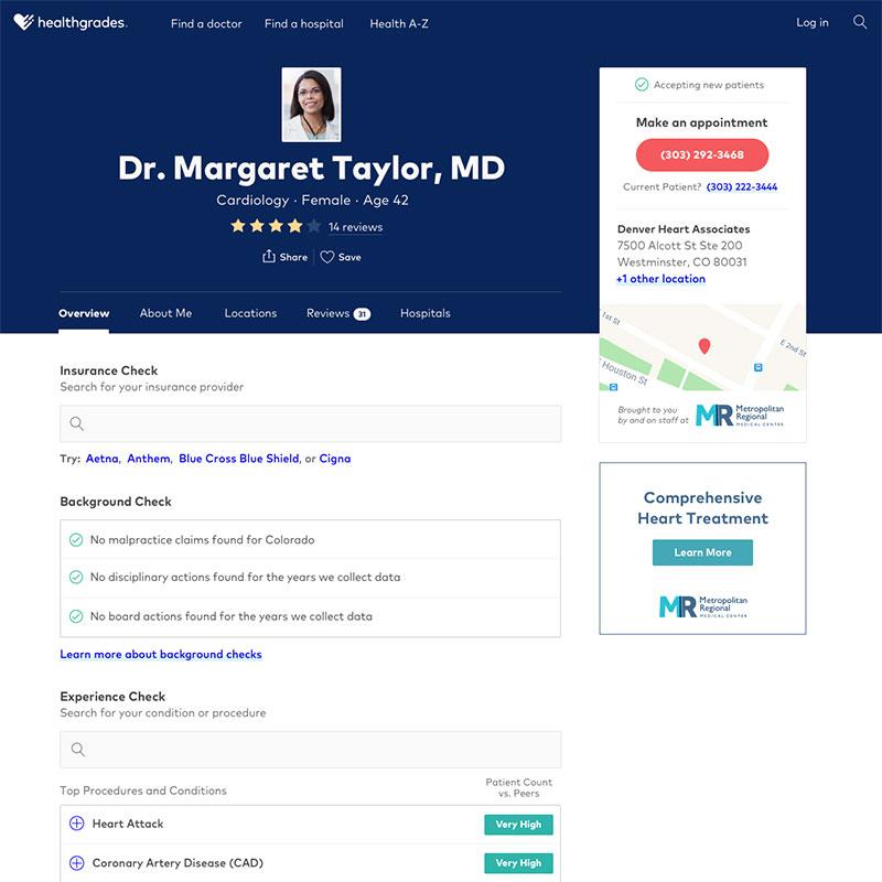 Healthgrades.com Redesign